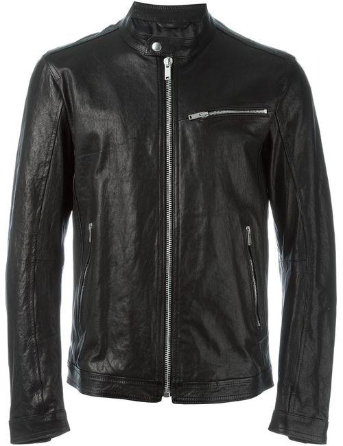 Dondup | Мужская Чёрная Кожаная Куртка