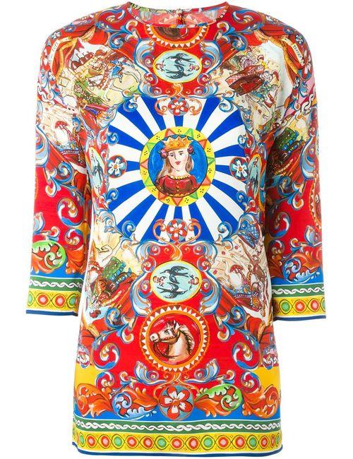 Dolce & Gabbana | Женская Блузка С Комбинированным Принтом