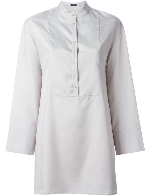Joseph | Женская Серая Рубашка С Нагрудной Панелью