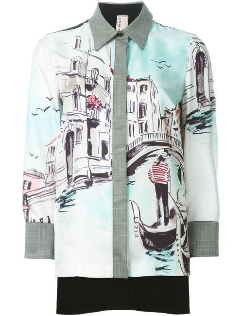 Antonio Marras   Женская Многоцветная Рубашка С Принтом Venice