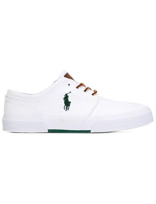 Polo Ralph Lauren | Мужские Белые Кеды На Шнуровке