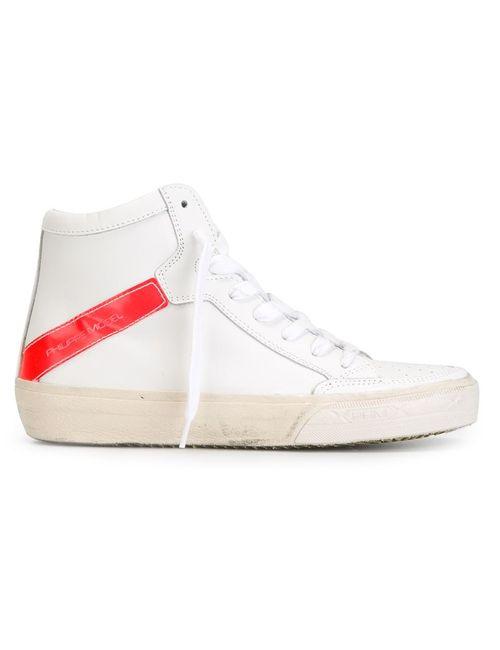 Philippe Model | Женское Белый Neon Stripe Hi-Top Sneakers