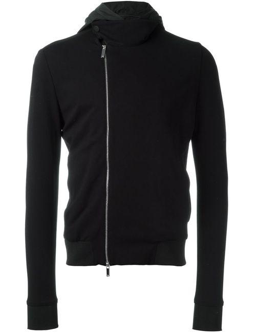 Emporio Armani | Мужская Чёрная Куртка Со Смешенной Молнией