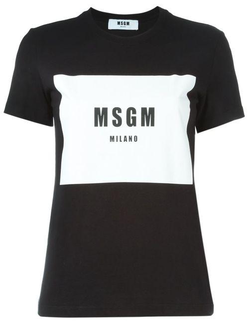 MSGM   Женское Черный Logo Print T-Shirt