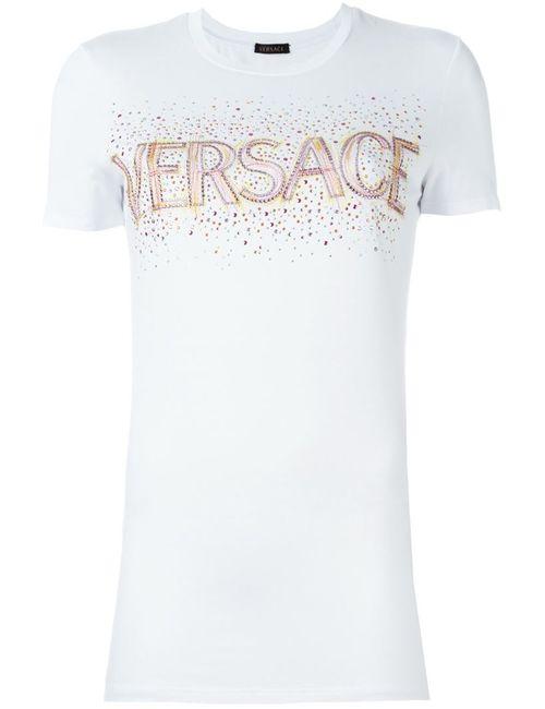 Versace | Женская Белая Футболка С Логотипом