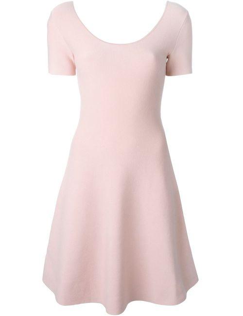 Theory | Женское Розовое Расклешенное Платье