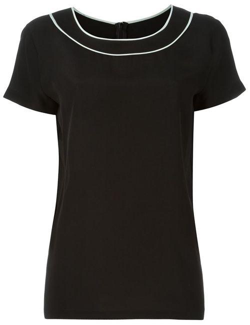 BOUTIQUE MOSCHINO | Женская Черный Блузка С Контрастной Окантовкой