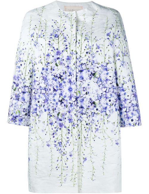 Giambattista Valli | Женское Многоцветное Пальто С Цветочным Принтом