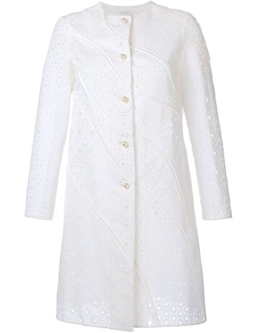 Huishan Zhang | Женское Белое Кружевное Пальто