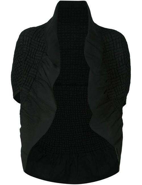 Issey Miyake | Женский Чёрный Пиджак Без Застежки С Рюшами