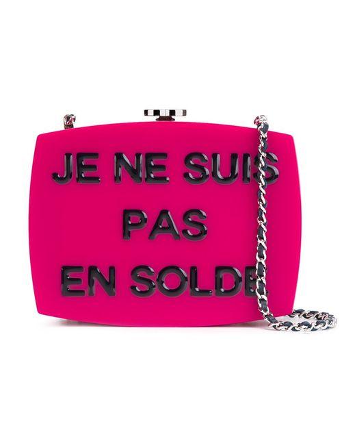 Chanel Vintage | Женская Розовая Сумка На Плечо Je Ne Suis Pas