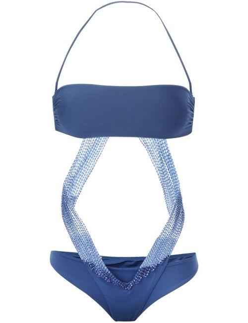 La Perla   Женское Синий Bandeau Bikini