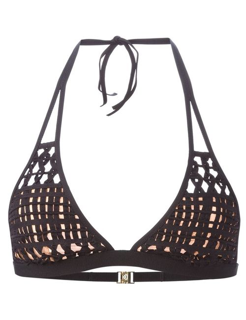 La Perla | Женское Чёрный Woven Triangle Bikini Top