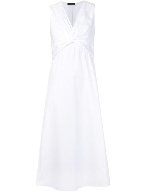 The Row | Женское Белое Платье С Перекрученной Деталью Kristiann