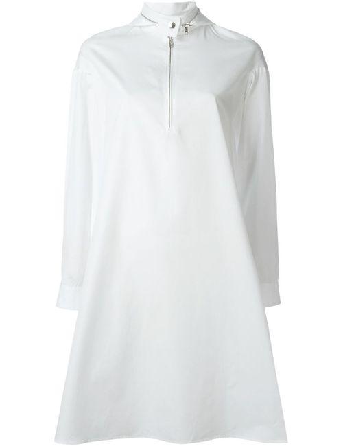 Kenzo | Женское Белое Платье-Рубашка Свободного Кроя