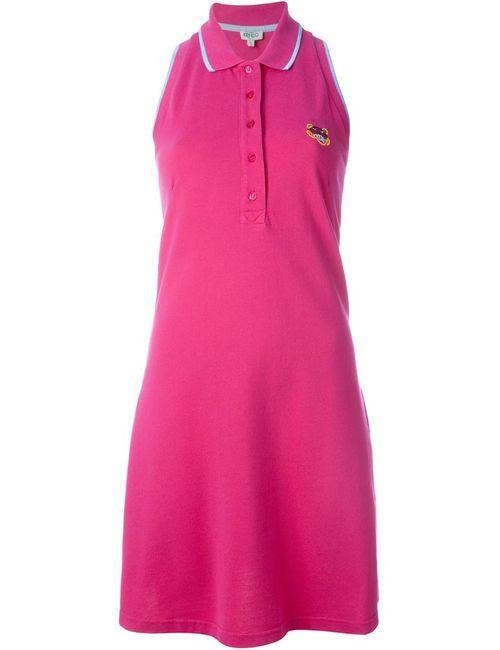 Kenzo | Женское Розовое Платье-Поло Tiger