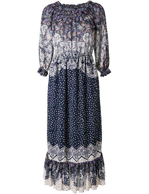 Saloni   Женское Синее Платье Elisa