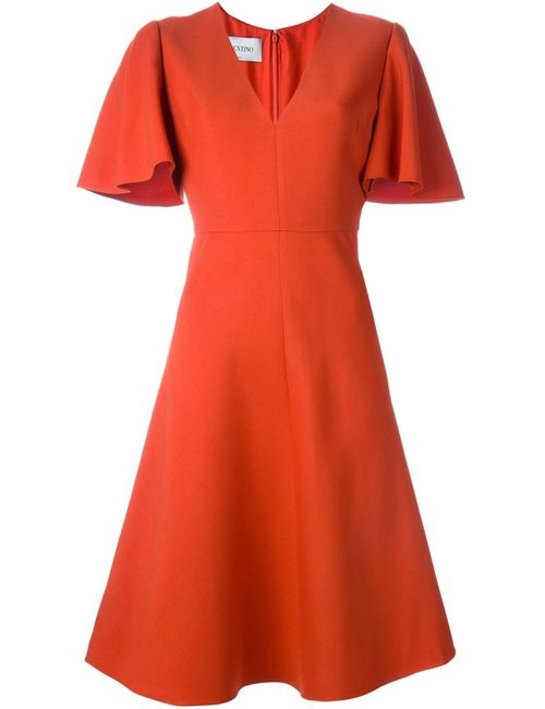 Valentino | Женское Желтый V-Neck Dress