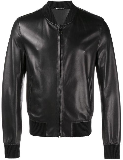 Dolce & Gabbana   Мужская Чёрная Классическая Куртка-Бомбер