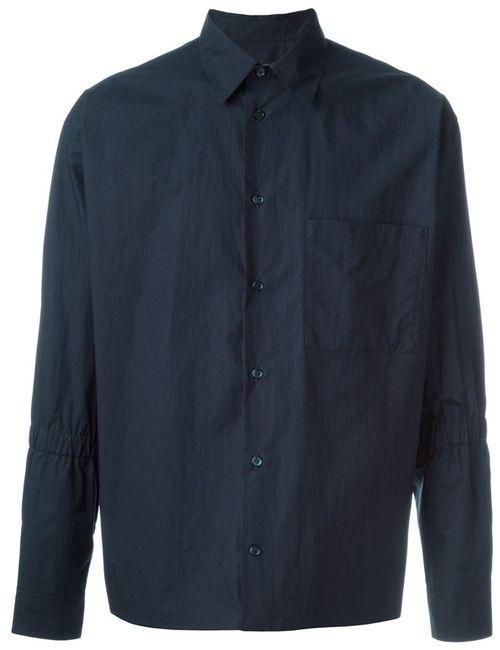 Marni | Мужская Синяя Рубашка С Нагрудным Карманом