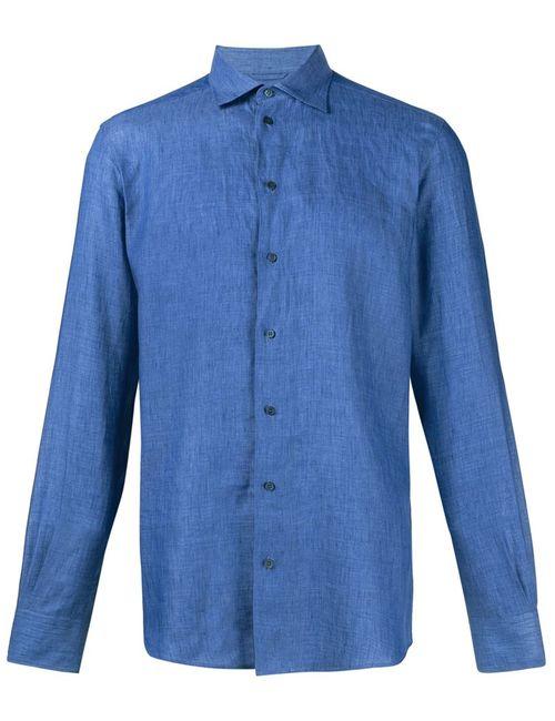 Dolce & Gabbana | Мужское Синий Classic Linen Shirt