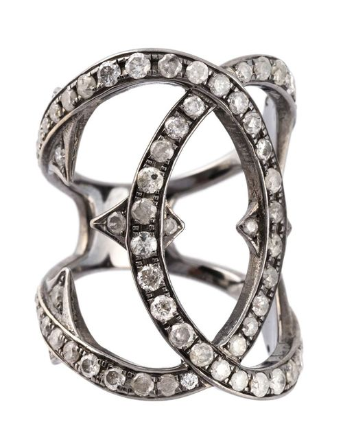 LOREE RODKIN | Женское Серебристое Кольцо С Бриллиантами
