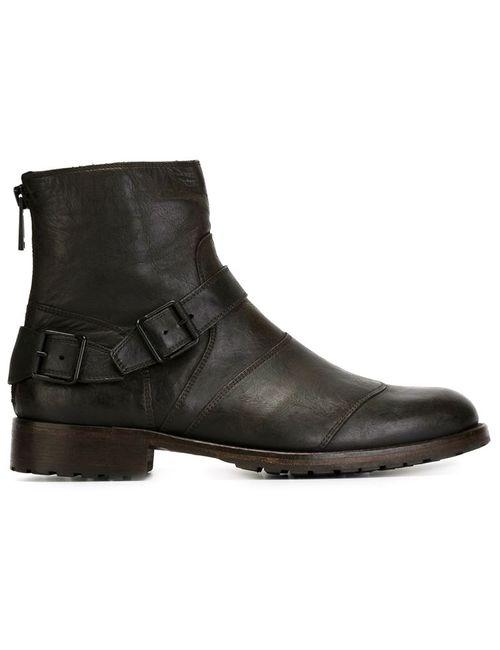 Belstaff   Мужские Чёрные Ботинки По Щиколотку Trialmaster