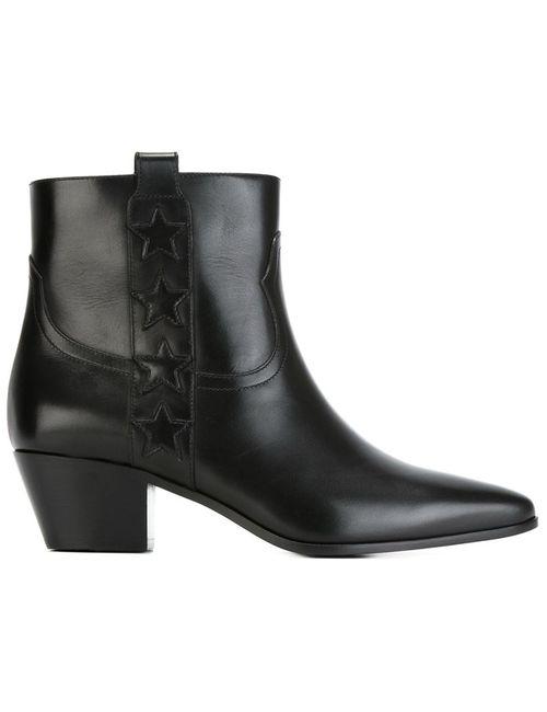 Saint Laurent | Женские Чёрные Ботинки По Щиколотку Wyatt