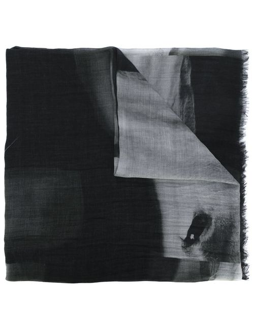 LOST AND FOUND   Женское Чёрный Horse Print Scarf