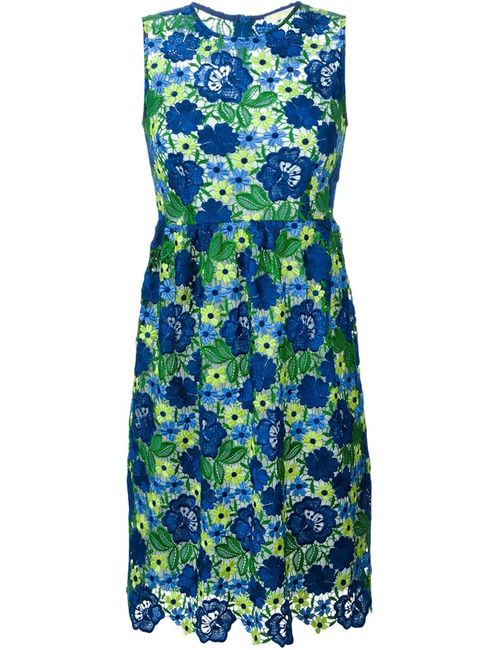 P.A.R.O.S.H. | Женское Синее Платье С Макраме