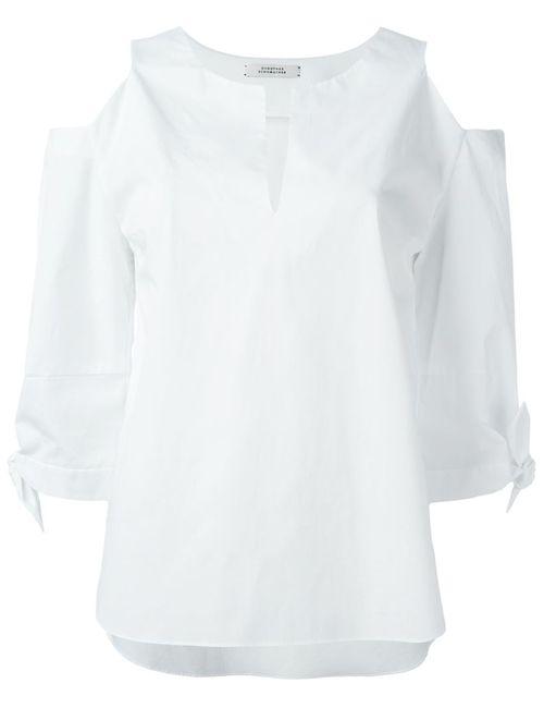 Dorothee Schumacher | Женская Белая Блузка С Открытыми Плечами