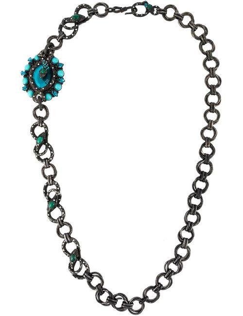 Lanvin | Женское Серебристый Embellished Snake Necklace