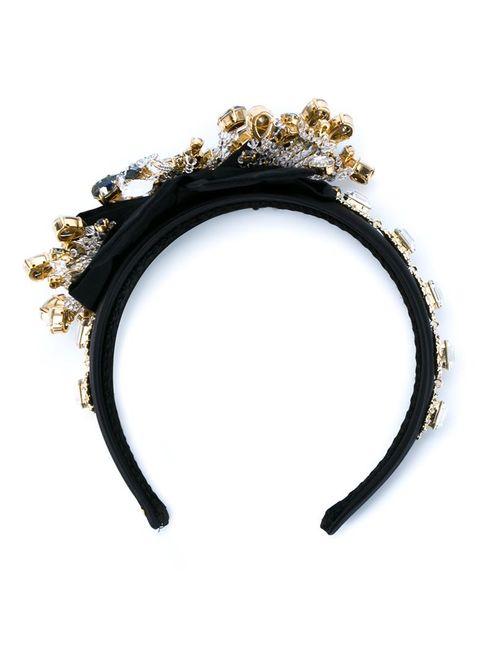 Dolce & Gabbana | Женский Чёрный Декорированный Ободок