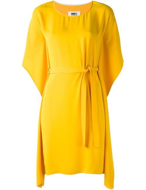 MM6 by Maison Margiela | Женское Жёлтое Платье С Поясом