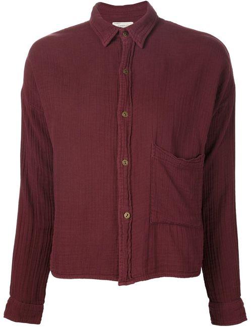 Current/Elliott | Женская Красная Укороченная Рубашка Мешковатого Кроя