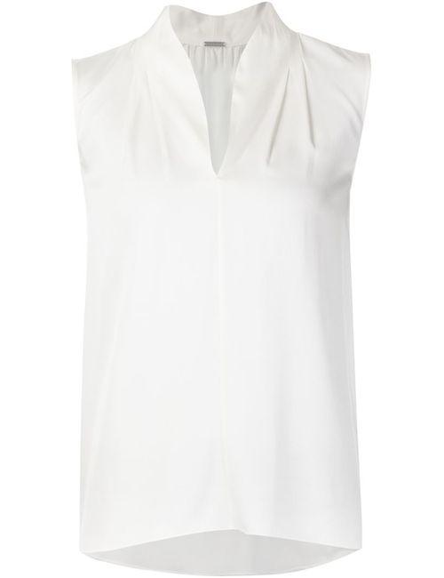 Elie Tahari | Женская Белая Блузка Без Рукавов