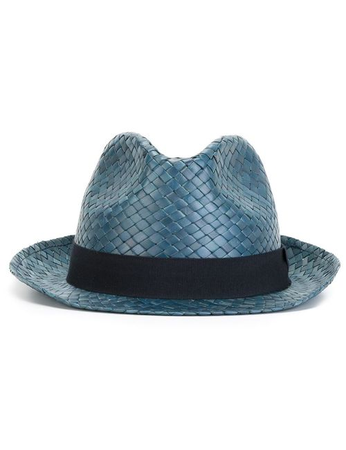 Hackett   Мужская Синяя Соломенная Шляпа
