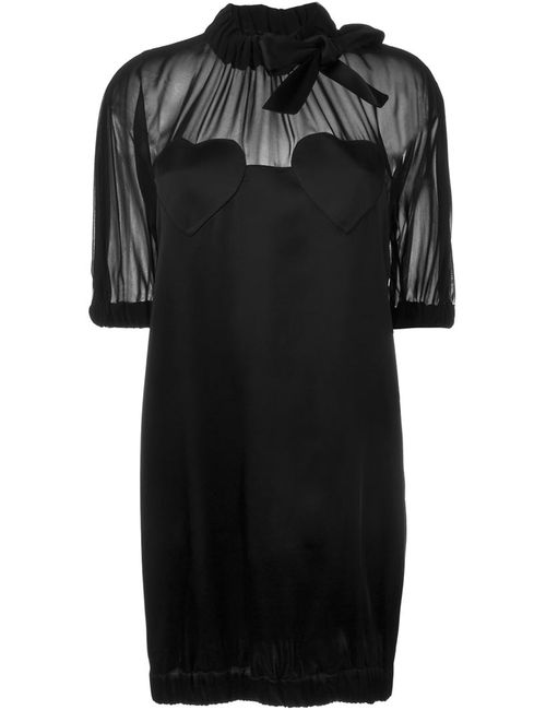 Love Moschino | Женское Чёрное Платье С Рукавами Три-Четверти