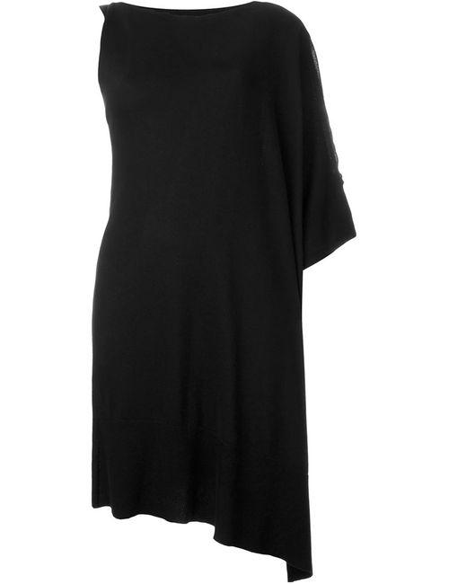 MM6 by Maison Margiela | Женское Чёрное Асимметрично Платье-Свитер