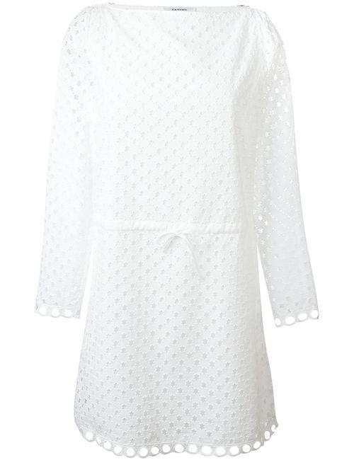 Carven | Женское Белый Broderie Anglaise Tie Waist Dress