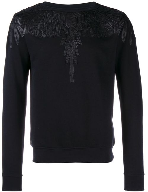 MARCELO BURLON COUNTY OF MILAN | Мужское Чёрный Leather Trimmed Sweatshirt