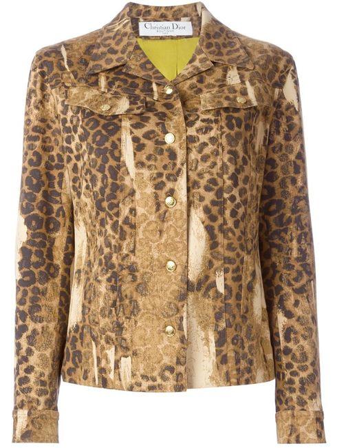 Christian Dior Vintage | Женское Nude & Neutrals Leopard Print Denim Jacket