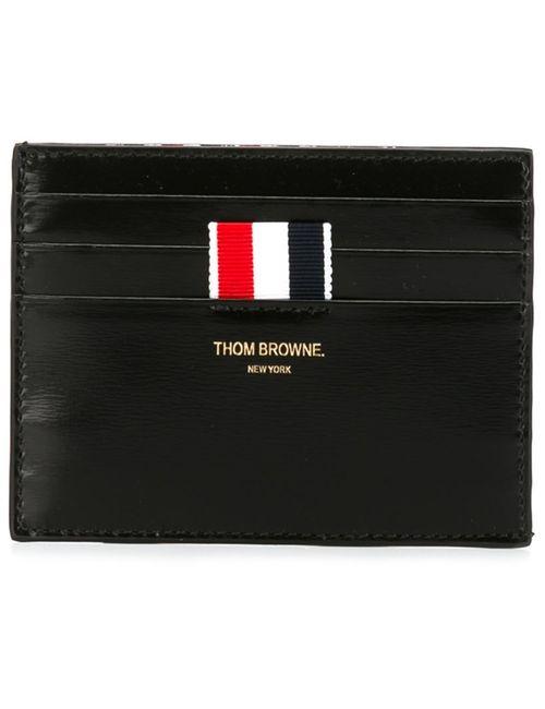 Thom Browne | Мужская Чёрная Классическая Визитница