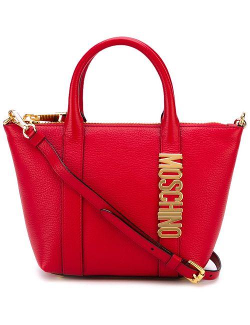 Moschino | Женская Красная Сумка-Тоут С Логотипом