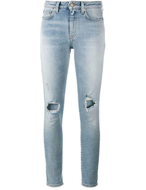 Saint Laurent | Женское Синий Skinny Distressed Jeans