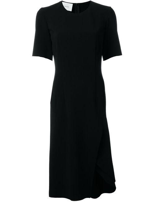 Cedric Charlier | Женское Чёрное Платье С Разрезом