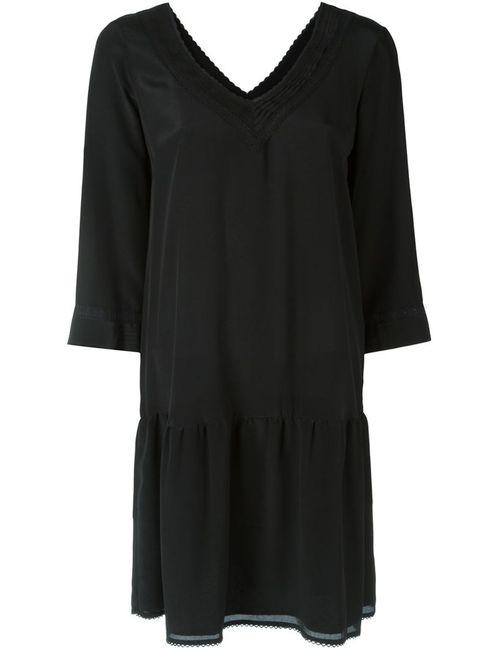 Twin-set | Женское Чёрное Платье C V-Образным Вырезом