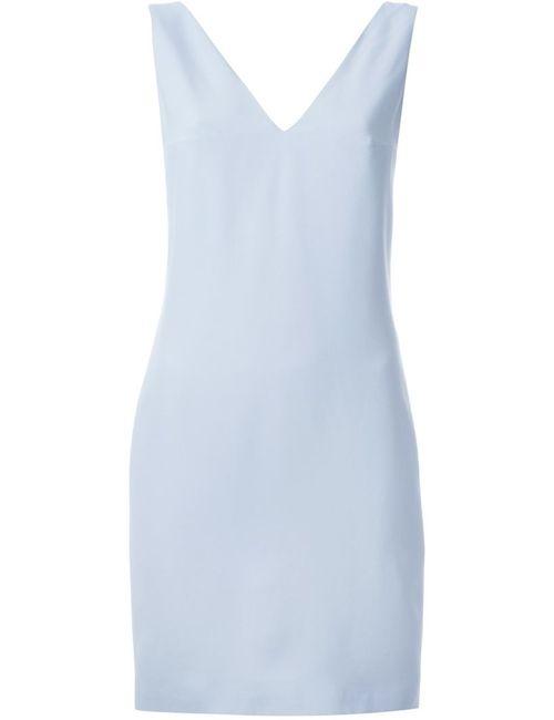 Dondup | Женское Синее Платье Без Рукавов C V-Образным Вырезом
