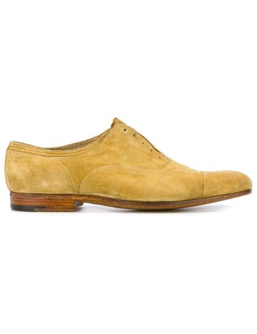 Premiata | Мужские Жёлтые Туфли Оксфорды Sony