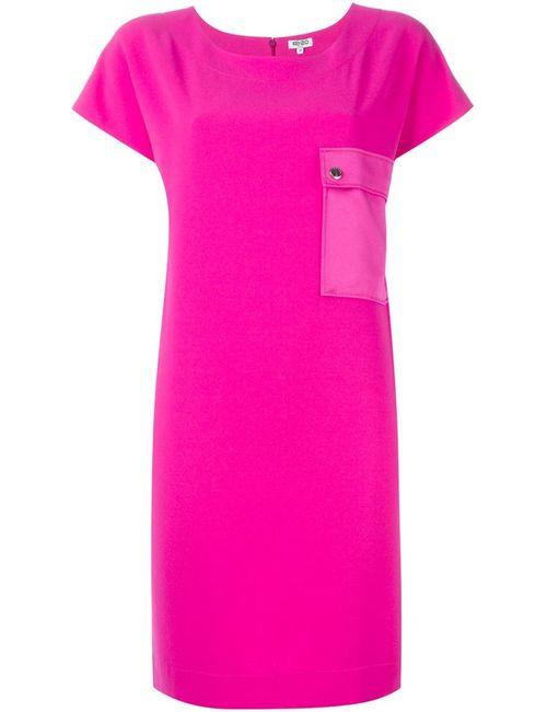 Kenzo | Женское Розовое Платье С Карманом